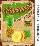 pineapple vintage banner | Shutterstock .eps vector #542146939