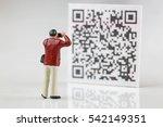 scanning qr code | Shutterstock . vector #542149351