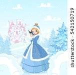cute princess in the snow ...