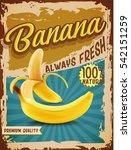 banana vintage banner | Shutterstock .eps vector #542151259