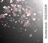 pink sakura falling petals on... | Shutterstock .eps vector #542153539