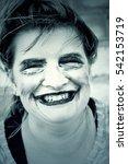 female monster makeup  mental... | Shutterstock . vector #542153719