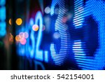 stock index numbers with city... | Shutterstock . vector #542154001