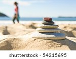 Focus On Pile Of Pebbles With...