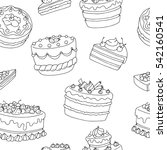 cake dessert graphic black... | Shutterstock .eps vector #542160541