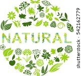 natural label   Shutterstock .eps vector #542162779