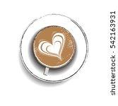 latte art coffee | Shutterstock .eps vector #542163931