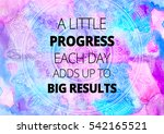 fitness motivation quotes | Shutterstock . vector #542165521