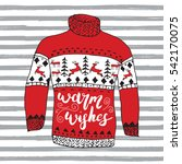 winter season lettering warm... | Shutterstock .eps vector #542170075