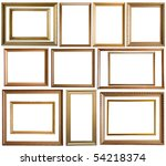 set of 14 gold picture frames ... | Shutterstock . vector #54218374