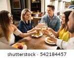 good looking group of friends... | Shutterstock . vector #542184457