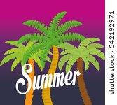 summer palms tree icon vector...   Shutterstock .eps vector #542192971