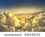 beautiful sky background with... | Shutterstock . vector #542195251