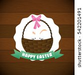 happy easter card icon vector... | Shutterstock .eps vector #542201491