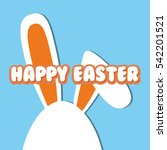happy easter card icon vector... | Shutterstock .eps vector #542201521