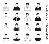 man icons vector set | Shutterstock .eps vector #542201971