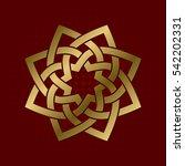 sacred geometric symbol of... | Shutterstock .eps vector #542202331