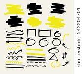 highlighter. set of vector... | Shutterstock .eps vector #542204701