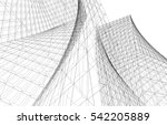 abstract architecture  | Shutterstock .eps vector #542205889