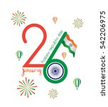 india 26th january vector ... | Shutterstock .eps vector #542206975
