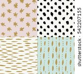 hand drawn seamless patterns... | Shutterstock .eps vector #542207155