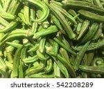 bunch of mature pods of green... | Shutterstock . vector #542208289
