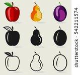 vector set of fruits  apple...   Shutterstock .eps vector #542211574