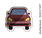 isolated car vehicle icon... | Shutterstock .eps vector #542217457