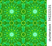 mandalas background. green ... | Shutterstock .eps vector #542222131