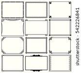 decorative simple frames  set 9  | Shutterstock .eps vector #542226841