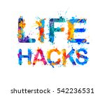 life hacks. splash paint  | Shutterstock .eps vector #542236531
