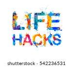 life hacks. splash paint    Shutterstock .eps vector #542236531