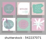 christmas gift tags and cards... | Shutterstock .eps vector #542237071