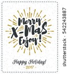 christmas card with... | Shutterstock .eps vector #542243887