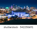 night city skyline of kansas... | Shutterstock . vector #542250691