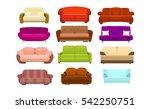 sofa. set vector illustration | Shutterstock .eps vector #542250751