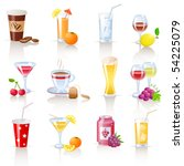 drinks icons | Shutterstock .eps vector #54225079