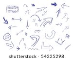 collection of hand drawn doodle ... | Shutterstock . vector #54225298