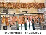 smoked dried meat is higher in... | Shutterstock . vector #542253571
