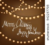 merry christmas and happy new... | Shutterstock .eps vector #542257705