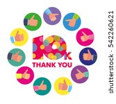 vector template 10k thanks... | Shutterstock .eps vector #542260621