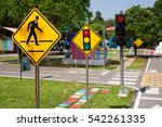 traffic signs teach your child... | Shutterstock . vector #542261335