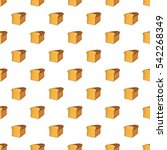 bread pattern. cartoon... | Shutterstock .eps vector #542268349