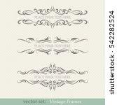 vector set of vintage frames | Shutterstock .eps vector #542282524