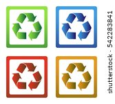 recycle vector icon isolated on ... | Shutterstock .eps vector #542283841