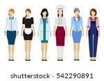 vector illustration of set of... | Shutterstock .eps vector #542290891
