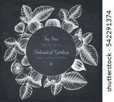 vintage card design with fig... | Shutterstock .eps vector #542291374