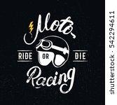 retro racer helmet and...   Shutterstock .eps vector #542294611