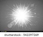 white glowing light burst... | Shutterstock .eps vector #542297269