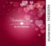 valentine's day heart symbol.... | Shutterstock .eps vector #542303554
